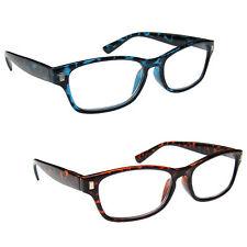 Value 2 Packs Mens Womens Reading Glasses Spring Hinges UV Reader RR10