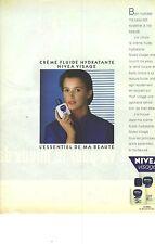 PUBLICITE  1987   NIVEA creme fluide hydratante cosmétiques beaute