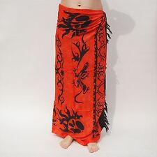 Farbvarianten Sarong Pareo Lungi Sarongs 6 verschiedene Wickeltücher in Orange