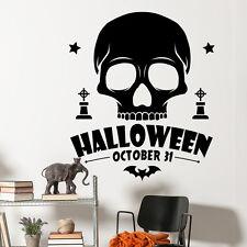 Wall Decal Halloween Holiday Decal Skull Sticker Bat Vinyl Art Home Decor MA381