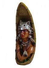 Indianer Figur Kanu Einbaum Westerndekoration 4 Variationen 22,5 cm