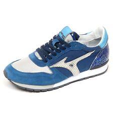 D2732 sneaker donna MIZUNO ETAMIN tissue blue/silver shoe woman