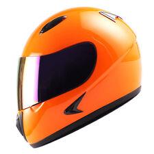 Youth Full Face Motorcycle Helmet MX BMX ATV Dirt Bike Kids Bike Glossy Orange