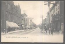 Postcard Lebanon Pennsylvania/Pa Cumberland St. Business Store Fronts