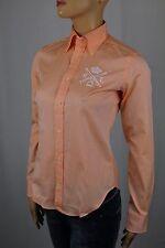 Ralph Lauren Orange Slim Fit Blouse Shirt RL Equestrian Crest NWT