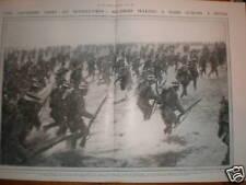 Japan army drill Musashino plain near Tokyo 1912 print