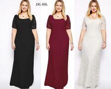 2018 New Sexy Women Plus Size High Waist Evening Elegant Long Maxi Lace Dress #5