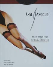 Leg Avenue Fashion Sheer Rhine Stone Top Black Thigh High Stockings One Size