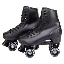 C7skates Soft Faux Leather Roller Skates Classic Ebony Black Great Gift