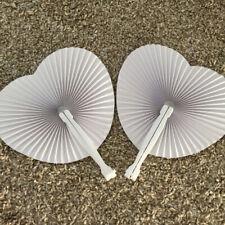 Ventagli Ventaglio Bianchi Pieghevoli Plastica Carta Cuore Matrimonio segnaposto