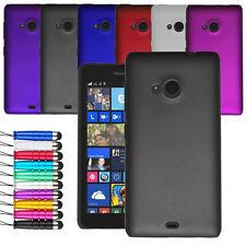 Para Microsoft Lumia 535 Armour Hard Shell Funda Cubierta Trasera + Pantalla + Stylus