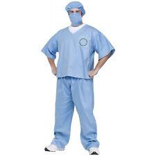 Surgeon Costume Adult Doctor Scrubs Halloween Fancy Dress