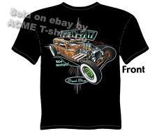 Velocitee Mens Premium Long Sleeve T-Shirt Boomstick Hot Rat Rod Sedan W16283