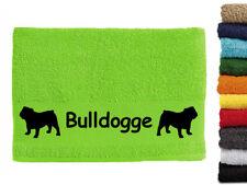 Englische Bulldogge Hundemotiv Handtuch Hundehandtuch Hunde mit Namen