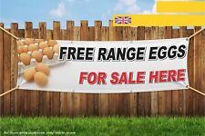 Free Range Eggs For Sale Here Heavy Duty PVC Banner Sign 3179