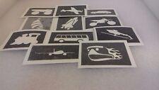 Trasporti tema stencil per scintillio tatuaggi/Torte/molti altri usi Van Treno