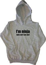 I'm Ninja (no se pueden ver M Niños graciosos sudadera con capucha