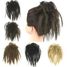 Womens Curly Wave Hair Bun Clip Comb In Hair Scrunchie Chignon Hairpiece Wig
