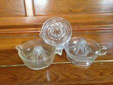 VINTAGE CLEAR GLASS CITRUS REAMER orange juice squeezer/juicer LEMON LIME HEAVY