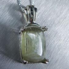 6.4ct Natural Diaspore Colour chane &sapphire 925 Sterling silver /Gold pendant