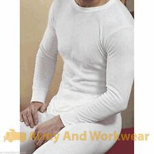 Para Hombre térmica Ropa interior cálida Costilla amplia Full Sleeve Top