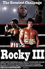 ROCKY 3 1982 MOVIE POSTER Canvas Wall Art pellicola stampa SILVESTRO Stallone l'onorevole T