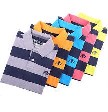 Aeropostale Men Stripe Logo A87 Polo Shirt style 7976 $0Ship