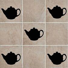 Teapot  Brew Tetley Vinyl Wall Tile Decals Kitchen Home Deco Transfer 8 Stickers