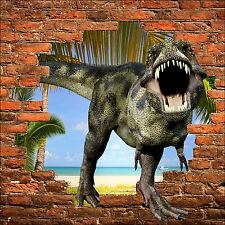 Sticker mural trompe l'oeil dinosaure Tyrex réf 864