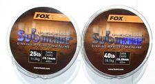 Fox Submerge sinkende Geflochtene Schnur 300/600 Meter, Sinking Braided Mainline