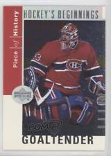 2002 Upper Deck Piece Of History Hockey's Beginnings HB6 Patrick Roy Hockey Card