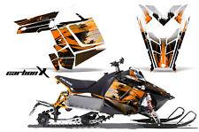 AMR RACING POLARIS RUSH PRO-RMK 600/800 SNOWMOBILE SLED WRAP DECAL ORANGE CARBON