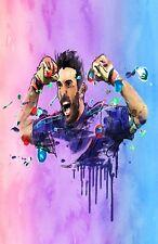 Juventus Gianluigi Buffon Digital Art Poster Print T1323  |A4 A3 A2 A1 A0|