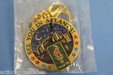SEE YOU IN ATLANTA 96 OLYMPICS GAMES - 1996 CITY ATLANTA PIN/LABEL/BADGE