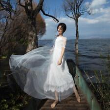 Dreamlike Vintage Mori Girl Sweet Lolita White Tulle Lace Princess Fairy Dress@n