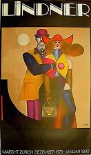 Richard Lindner Affiche quadri Maeght Zurich 1980  USA Allemagne Hambourg expo
