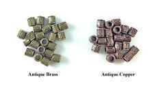 6mm Short Barrel Cylinder Bead Antique Brass Copper Plated Lead Safe Alloy Q66