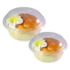 Clear a cerniera per dolci Jelly Shot porzione MOUSSE TAZZE VASO CONTENITORE CON COPERCHIO BPA libero