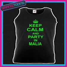 Keep Calm and Festa a Malia Vacanza Discoteca Canotta Unisex
