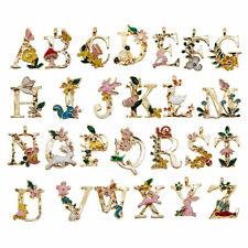 Enamel Metal Personalized Mini Alphabet Letter Pendant Charm Jewelry Craft Decor