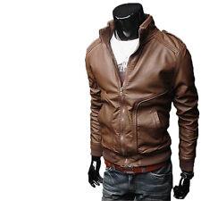 Giacca Giubbotto in Pelle Uomo Men Leather Jacket Veste Blouson Homme Cuir N4e