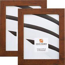 "Craig Frames Bauhaus, 1.25"" Modern Rustic Dark Walnut Bown Picture Frame, 2-Pack"