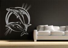 Dolphin Bathroom Wall Sticker Vinyl Decal Transfer Mural Stencil Art Tattoo