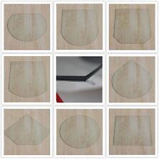 Kamin Glasbodenplatte Funkenschutz Kaminplatte Glas Ofen Platte Bodenplatte NEU