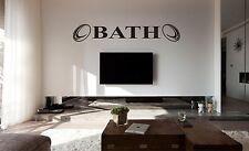 Bath Rugby Wall Art Sticker, Decalcomania, superfici piane, auto vinile, vetro