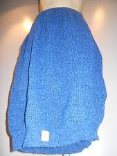 Nos 80s New Wave Black & Sea Blue Heather Winter Knit Sweater Skirt Retro 12