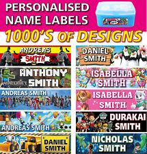 Personalised Kids Vinyl Name Labels - Drink Bottle Lunchbox School x 45 labels