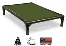 New listing Kuranda Indoor Dog Bed - Walnut Frame - Cordura Fabric - Olive