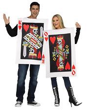 Unisex Womens Mens Couples Novelty Poker Vegas Alice Heart King & Queen Costume