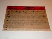 Microfich Werkstatthandbuch Yamaha Quad YFM 400 FWAP Stand 07/2001
